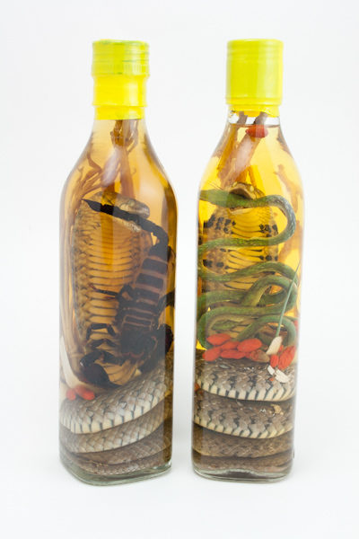 VIETNAMESE SNAKE WINE AND SCORPION WINE BOTTLES COMBO, ORDER A SNAKE WINE AND A